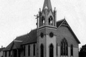 Methodist church built at Fourth and Madison in 1897 and later remodeled in 1905.