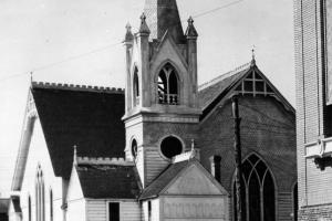 1905 Church as it was being remodeled.  Originally built in 1897.