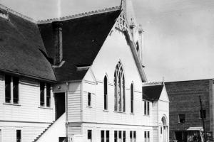 Church as it was being remodeled in 1905.